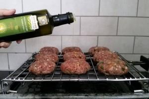 המבורגר עם שמן זית קורטינה