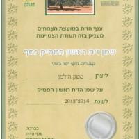 שמן זית ראשון המסיק כסף 2014